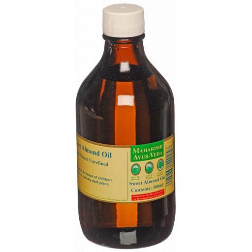 Sweet Almond Oil, Organic, Cold Pressed, 500ml
