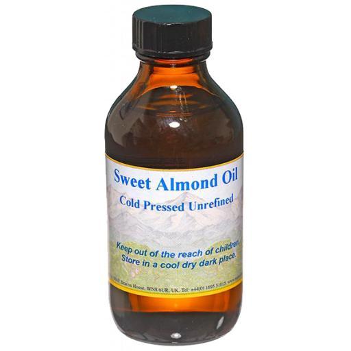 Sweet Almond Oil, Organic Cold Pressed, 100ml