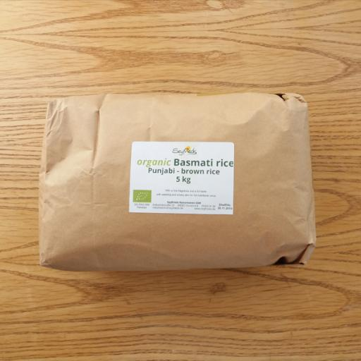 Basmati Punjabi Brown Rice, Organic, 5kg