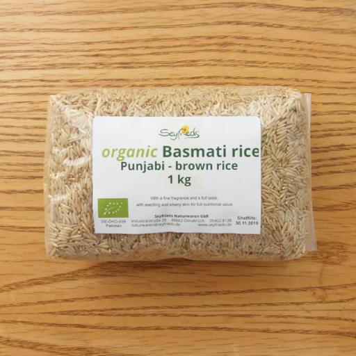 Basmati Punjabi Brown Rice, Organic, 1kg